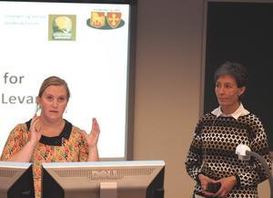 Marthe Leistad Bakken og Ragnhild Holmberg Aunsmo, begge fra Innherred samkommune, snakket om planer for håndtering og forebygging av kriser i landbruket.