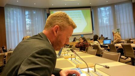 Bjørn Gimming talar til WTO