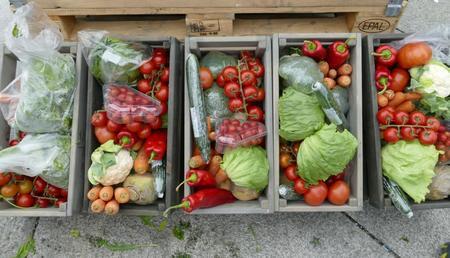 Det vil bli selt mange ulike produkt på Bondens marked, blant anna grønsaker.