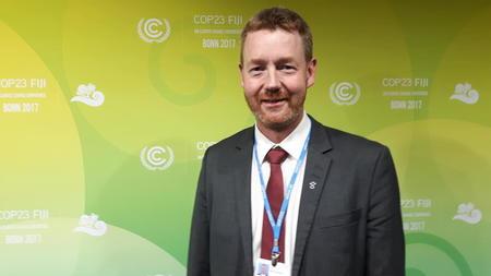 Bjørn Gimming på klimaforhandlinger i Bonn 2017.