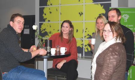 Fra venstre, Andreas og Julie Margrethe Lunde, Maren Ringnes Rogstad, Vegar Andreassen og Kristiane Huuse.