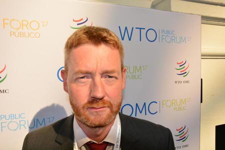 Bjørn Gimming på WTO-møte