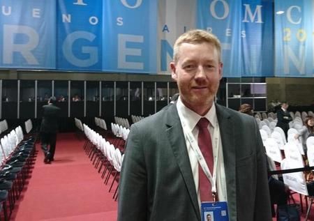 Bjørn Gimming på ministermøte i WTO 2017