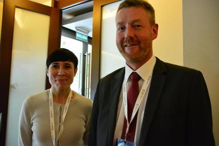 Bjørn Gimming og utenriksminister Ine Marie Eriksen Søreide på ministermøte i WTO 2017, Buenos Aires