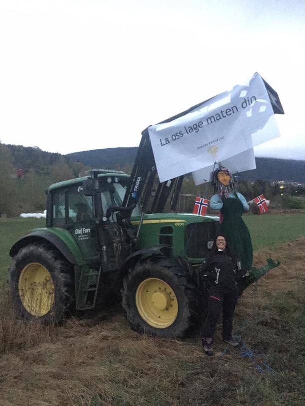 Klar melding fra Sør-Fron Bondelag under vårens aksjoner etter bruddet i jordbruksforhandlingene.