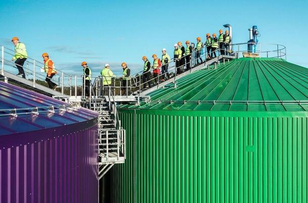 Omvisning på den magiske fabrikken, biogassanlegget i Vestfold