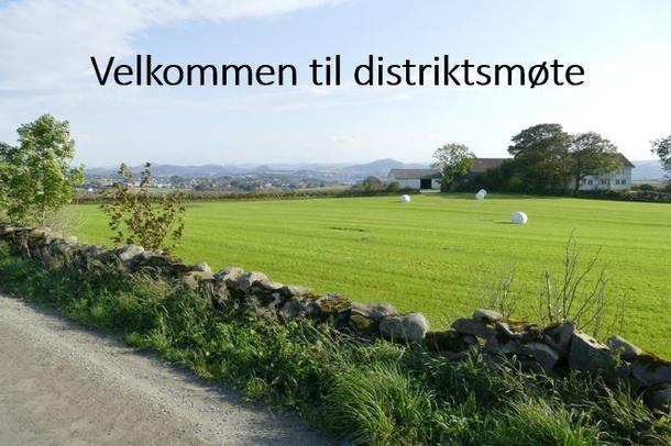 Velkommen til distriktsmøte 2018 i Aksdal og på Ålgård.