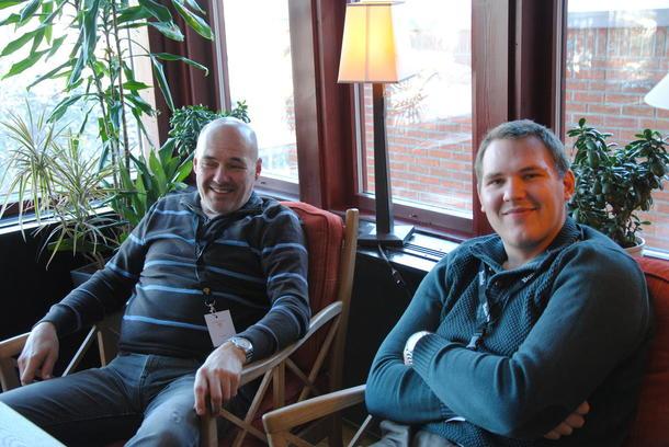 Far Ola Homb og sønn Kristian Holte er vel forlikte så langt. Men de fikk nyttige ting å tenke på under kurset.