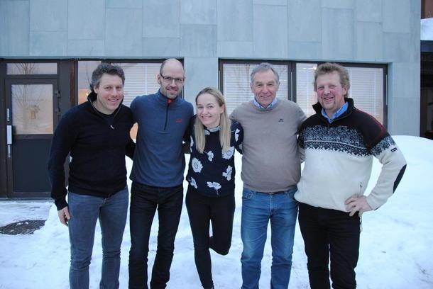 Valgkomiteen: f.v Alf Bernhard Ouren, Jon Waalen, Ellen Marie Gjeilo, Andreas Høiby og Henrik Grøndalen
