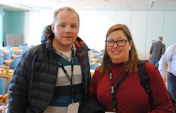 Lederduoen: nestleder Anders Hole Fyksen og leder Kristina Hegge