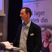 Arnstein Røyneberg fra Norges Bondelag gjestet årsmøte.