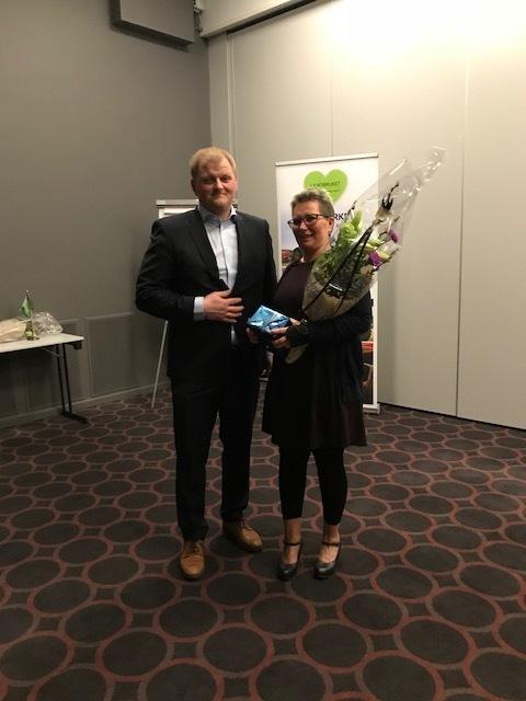 Wanaj Rakvaag takkes av for sitt verv som styremedlem i Nordland Bondelag