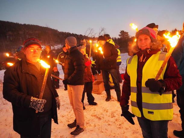 Fakkelaksjon for matjorda i Malvik