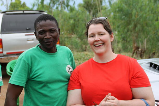 Frøydis Haugen i Malawi