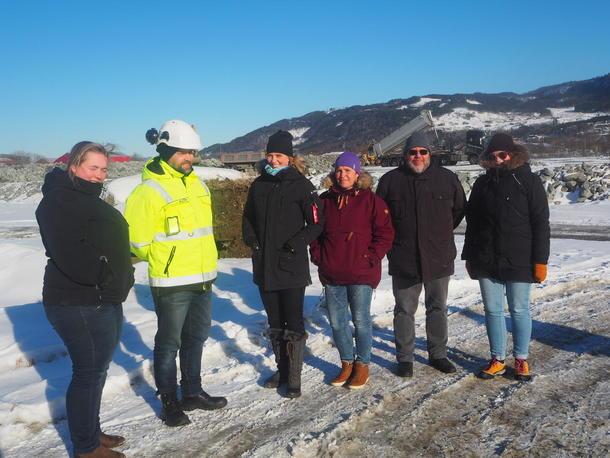 Fylkesstyret i Sør-Trøndelag Bondelag og prosjektleder jordflytting Ingebrigt Bjørseth fra Proinvenia