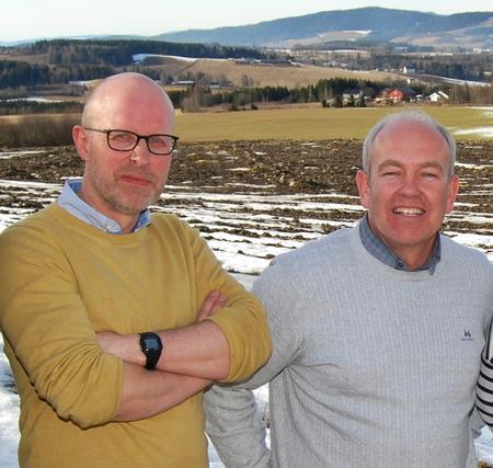 Erling Aas-Eng og Lars Opsal jr, leder og nestleder i Hedmark Bondelag