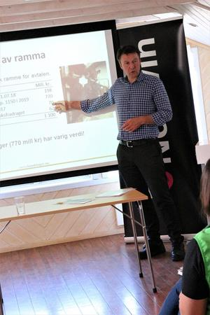 Lars Petter Bartnes innleder på toppmøte for svinenæringa,. Vega, 24. mai 2018