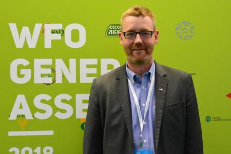 Bjørn Gimming på WFO-møte i Moskva, mai 2018