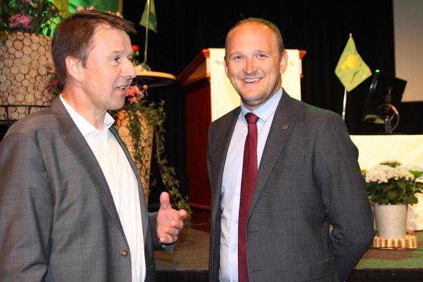 Lars Petter Bartnes og Jon Georg Dale på Bondetinget