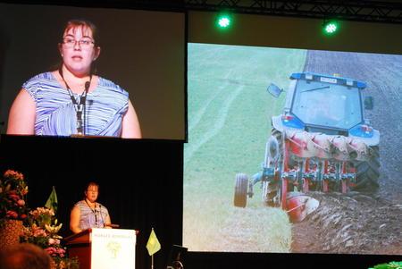 Anne-Lise Brenna Ording holdt innlegg om villsvin i generaldebatten