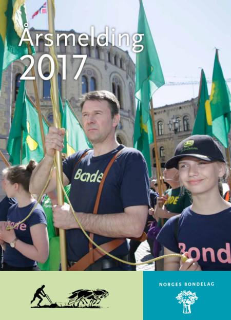 Forside årsmelding 2017, Norges Bondelag