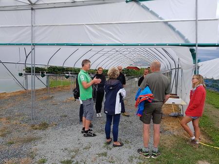 Jørn Haslestad fra NLR Innlandet og Anita Sønsteby fra NIBIO Apelsvoll fortalte om mulighetene som ligger i jordbærproduksjon.