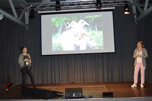 Ragnhild Aspås og Anne Berntsen fra Nofence (Foto: Arild Erlien)