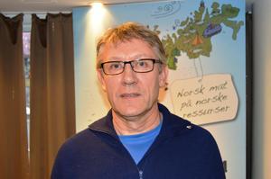 HMS-rådgiver i Norsk Landbruksrådgivning Landbruk Nordvest, Sigmund Moen Trønsdal, holdt foredrag om hvordan møte bønder i krise.