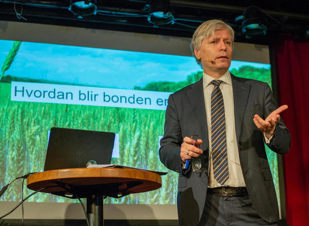 """Ola Elvestuen innleder på frokostseminar 27.11.18 """"Hvordan blir bonden en klimavinner?"""""""