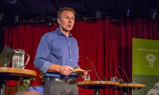 """Lars Petter Bartnes innleder på frokostseminar 27.11.18 """"Hvordan blir bonden en klimavinner?"""""""