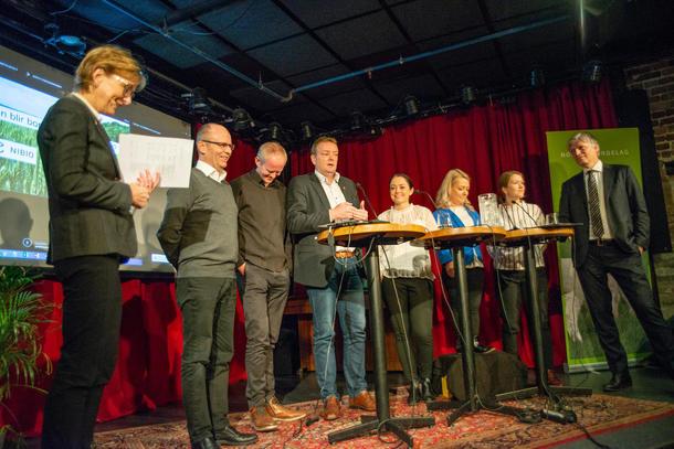 "Politikerpanel på frokostseminar 27.11.18 ""Hvordan blir bonden en klimavinner?"""