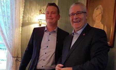 Møte mellom Trond Bjørkås i Nordland Bondelag og landbruks- og matminister Bård Hoksrud, Mosjøen 4.12.2018