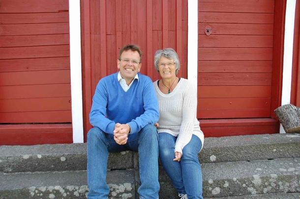 Foredragsholderne Ole Christen Hallesby og Mariann Andersen