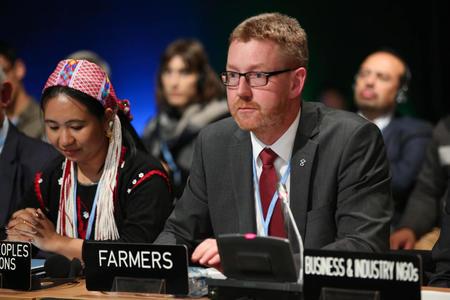 Bjørn Gimming innleder under COP24