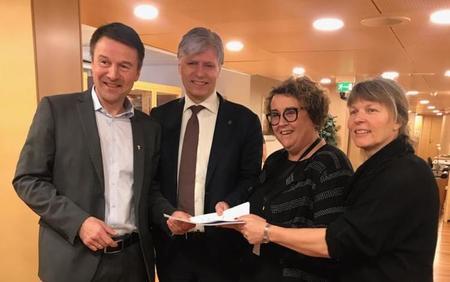 Lars Petter Bartnes, Ola Elvestuen, Olaug Bollestad og Kjersti Hoff. Møte i klimaforhandlingene 6. februar 2019