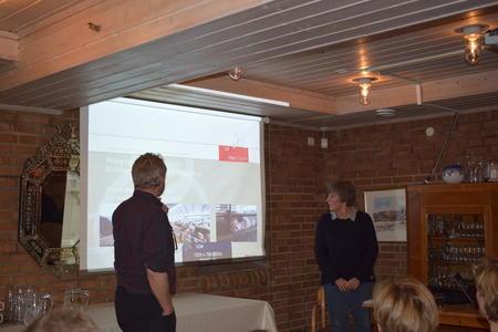 Erik Sørlie og Ellen Guldbrandsen, fra møte på Fossesholm.