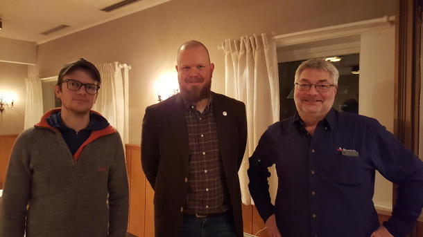 Innlederne under villsvinmøtet; Pål Sindre Svae, Carl Andreas Grøntvedt og Peer Ola Hofmo