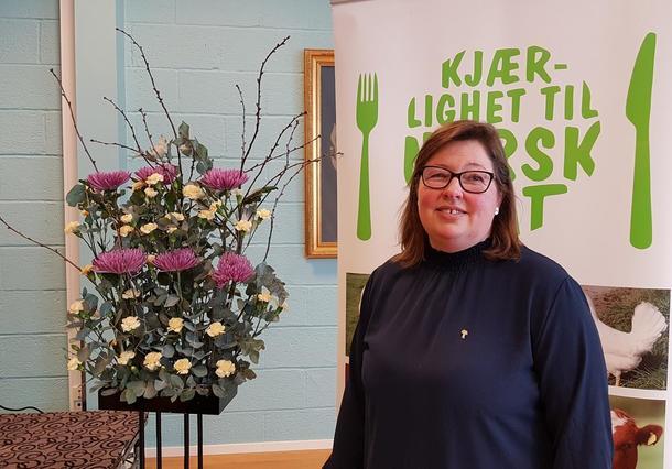 Kristina Hegge holdt sin første årsmøtetale i Oppland Bondelag.