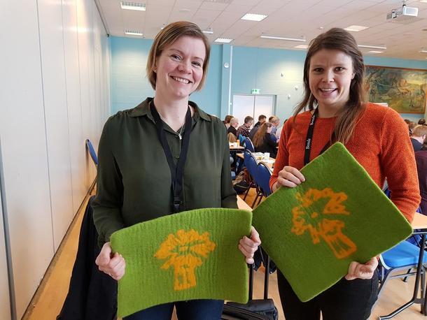 Anja Fyksen Lillehaug og Gyda Gaarder Tøråsen fra Norges Bondelag