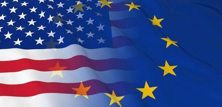 Flaggene til EU og USA