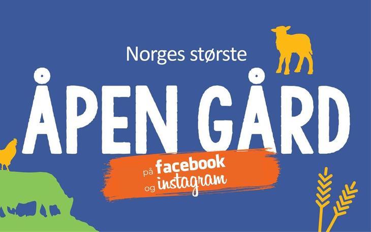 Åpen Gård på facebook og instagram
