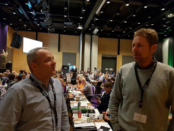 Anders Hole Fyksen og Anders Formo under Bondetinget