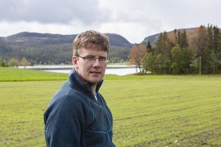 Vidar Stamnes, lokal grasprodusent fra Ganes i Namsos