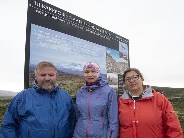 Bengt Fasteraune, Ellen Sørumgard Syse og Kristina Hegge. Foto: Bård Bårdløkken