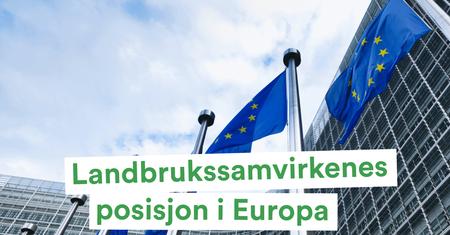 Landbrukssamvirkenes posisjon i Europa