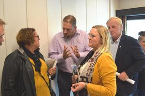 Fra venstre: landbruksminister Olaug Bollestad, fylkesleder i Bondelaget, Konrad Kongshaug, fylkesleder i KrF, Randi Walderhaug Friisvoll og ordførerkandidat i nye Molde, Svein A. Roseth.