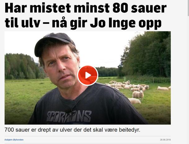 Faksimile fra TV2s dekning av angrepene i Nord-Østerdalen