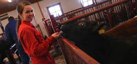 Landbruksutdanning. Her fra Mære landbruksskole.