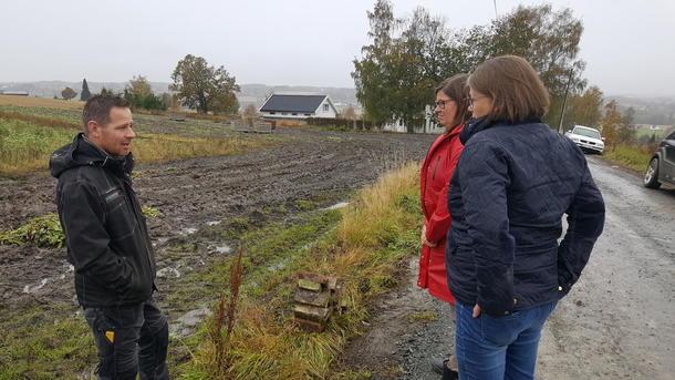 Trond Huuse høstet kålrot under svært våte og klinete forhold. Han og broren Hans Kristian har igjen både korn og kålrot, men den største bekymringen er likevel de 300 daa med potet som står igjen.