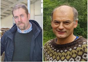 Fylkesleder Konrad Kongshaug (t.v.) og organisasjonssjef Arnar Lyche